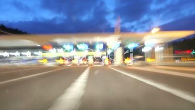 Highway Motorway Rage Camera Car High Speed at Dusk