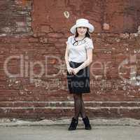 Girl in retro style