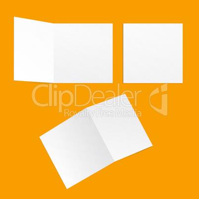 Template square postcards