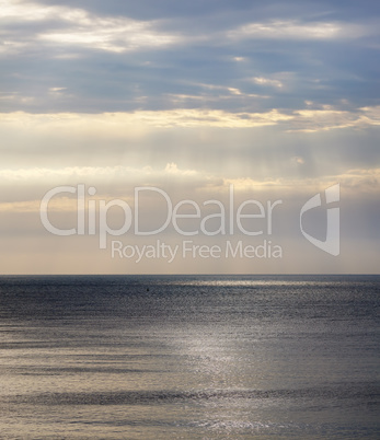 Seascape with dramatic sky