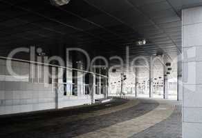 Minsk-Arena - colonnade and paving slabs