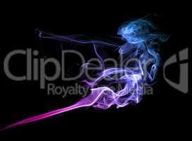 Purple smoke on dark