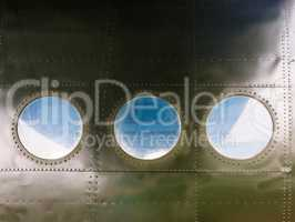 Portholes on old aircraft