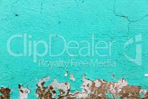 Turquoise paint background