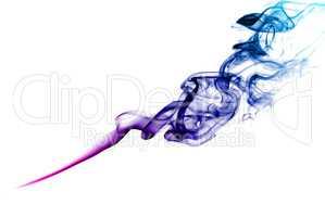 Purple smoke.