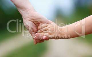Women's and children's hands