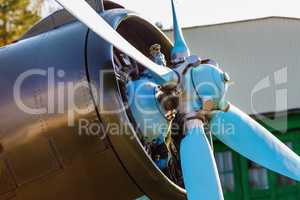 Aircraft propeller close-up