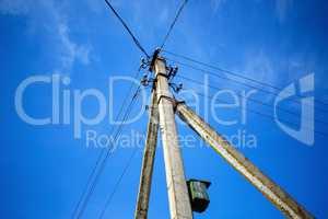 Electric pillar and birdhouse