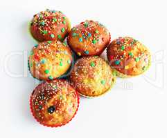 Appetizing homemade muffins