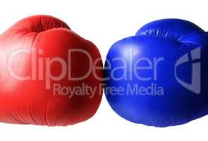 Boxing gloves close up