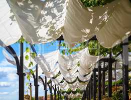 White cloth canopy