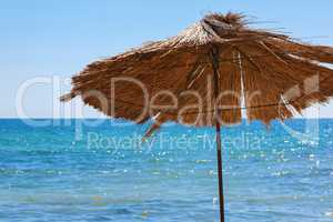 Straw umbrella