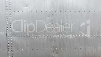 Aluminum texture with rivets