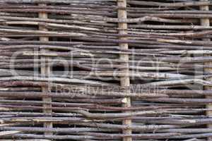 Bamboo sticks wood fence photo