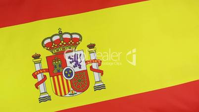 Closeup of a Spanish national flag