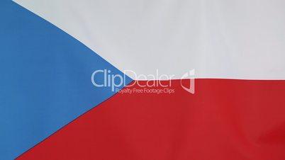 Textile flag of Czech Republic