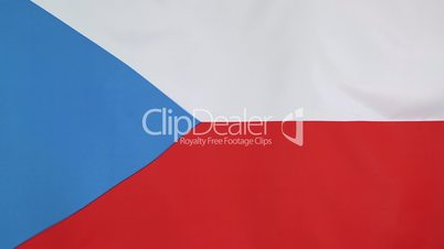Flag of Czech Republic in slow motion