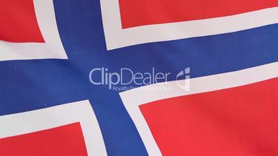 Closeup of Norwegian national flag
