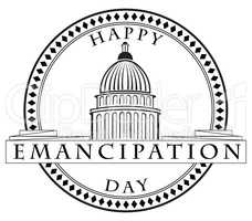 Stamp imprint Emancipation Day