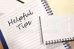 Helpful tips write on notebook