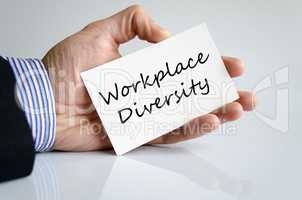 Workplace diversity text concept
