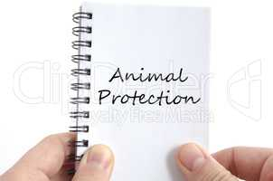 Animal protection text concept
