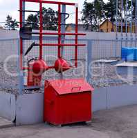 Fire Shield on the wall. Set primary fire extinguishing equipme