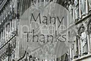 Church Of Trondheim, Text Many Thanks