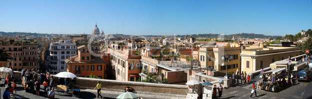 looking out on Rome by the Spanish Steps - Blick auf Rom von der Spanischen Treppe