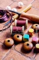 Needlework and beads