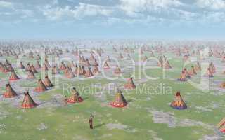 Großes Indianerlager