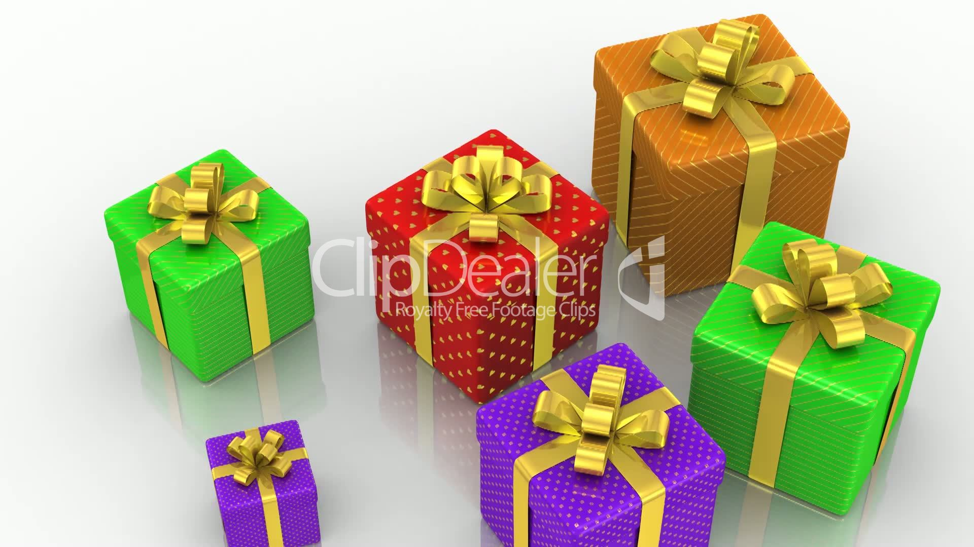 Animated Gift Boxes Royalty Free Video And Stock Footage Box