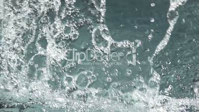Background with Water Splashes. Slow Motion