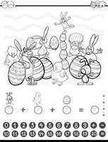 maths task coloring book