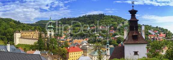 Banska Stiavnica panoramic view, Slovakia