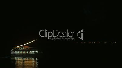 Boat on Water at Night