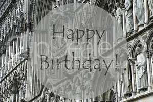 Church Of Trondheim, Text Happy Birthday