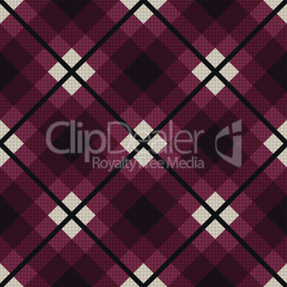 Diagonal seamless fabric pattern in red and gray