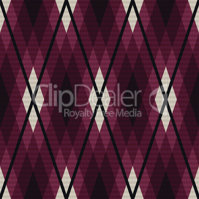 Rhombic seamless fabric pattern in red and gray