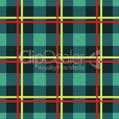 Rectangular seamless fabric pattern mainly in turquoise