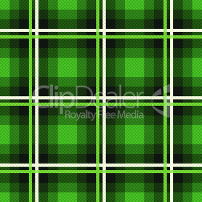 Rectangular seamless fabric pattern mainly in emerald hues
