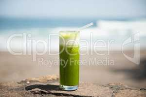 Healthy tropical juice drink