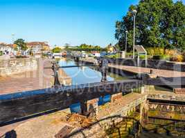 Lock gate in Stratford upon Avon HDR