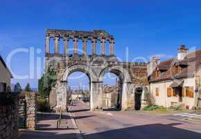Autun Porte d?Arroux - Roman gate Port d?Arroux in Autun Burgundy