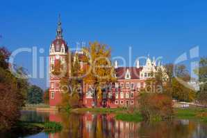 Bad Muskau Schloss - Bad Muskau palace in autumn