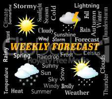 Weekly Forecast Represents Bad Weather And Forecasts