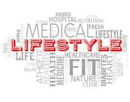 Lifestyle Words Means Way Interests And Healthy