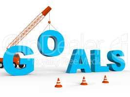 Build Goals Represents Improvement Aspire And Wishes 3d Renderin