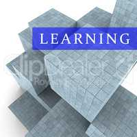 Learning Blocks Indicates Develop College And Educated 3d Render