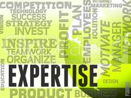 Expertise Words Indicates Specialist Skill And Capabilities
